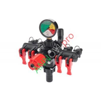 Регулятор давления ECM выход на 4 магистрали с фильтром с фильтром